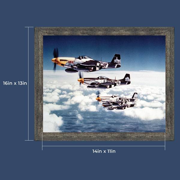 P-51 Mustang Plane, Aviation Picture Frame, 2113