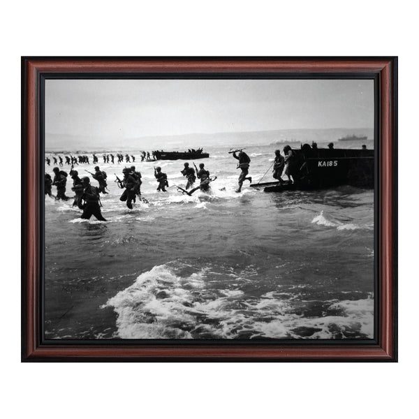 D-Day Landing, World War 2 Image, Military Framed Picture, 2114