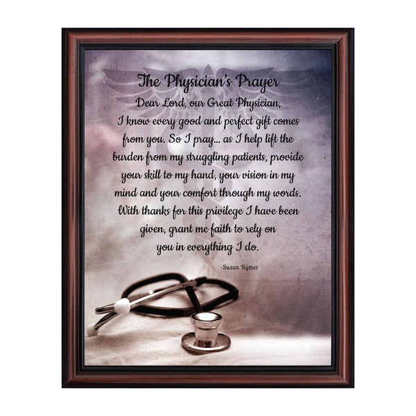 Doctor Gifts, Gifts for Medical School Graduation, Doctor Thank You Gift, Gifts for Doctors Office, Medical Doctor Gifts for Women or Doctor Gifts for Men, A Physician Prayer Framed Poem, 2186