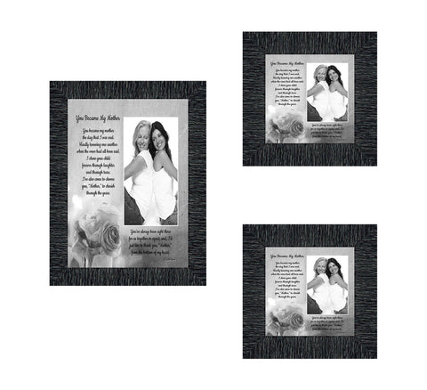 Picture Frame Set, 3 Piece Customizable Multi pack, 1-5x7, 2-4x4, for Instagram Photo Wall Gallery or Tabletop Display