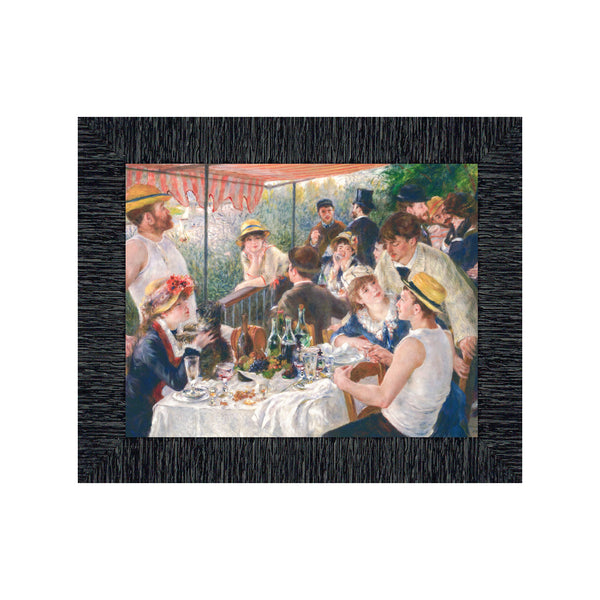 Luncheon of the Boating Party by Pierre Auguste Renoir Framed Print, Great Kitchen or Living Room Wall Decor, 11x14 2402