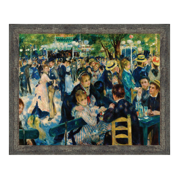 Dance at Le Moulin De La Galette by Auguste Renoir Framed Wall Art Print, Great for Living Room or Kitchen Wall Decor, 11x14, 2404