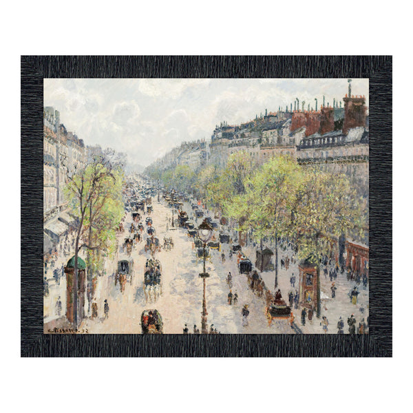 The Boulevard Montmartre Spring by Camille Pissaro, Modern Urban Wall Art, 11x14 2411