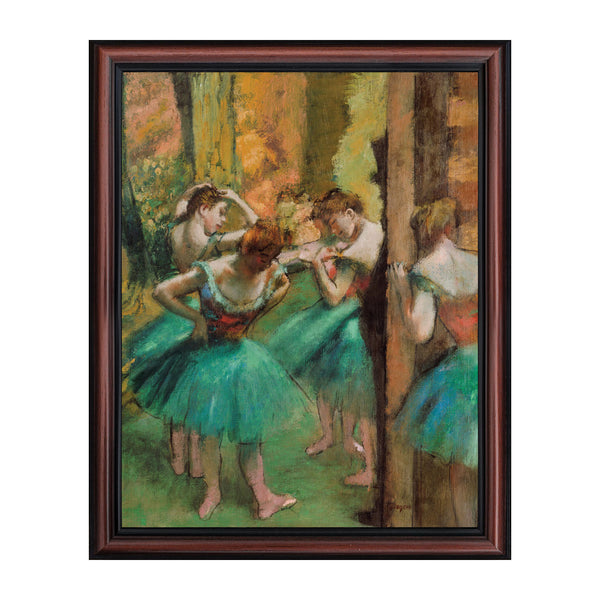 Dancers, Pink and Green by Edgar Degas Framed Wall Art Print, Beautiful Degas Ballerinas, Living Room or Bedroom Wall Art, 11x14, 2421