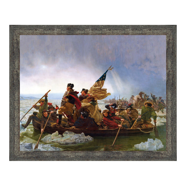 Washington Crossing the Delaware by Emanuel Leutze, Framed Wall Art Print, Famous American Revolution Painting Print, 11x14, 2423
