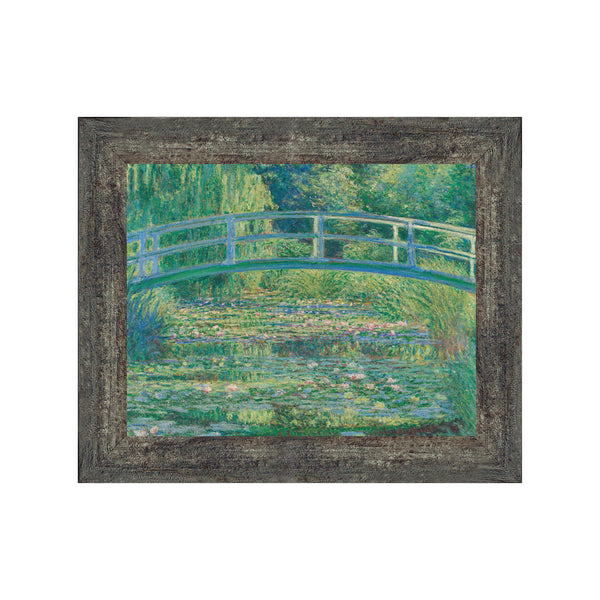 Water Lily Pond by Claude Monet Framed Wall Art Print, Monet Water Lilies Print, Bridge Horizontal Print, 11x14 2428