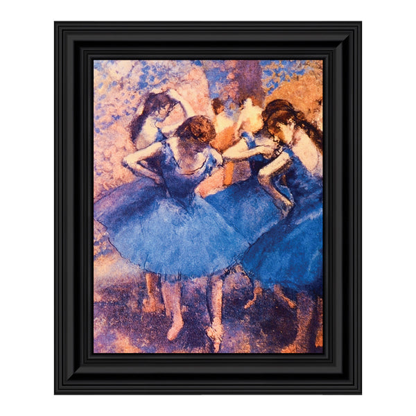 Dancers in Blue by Edgar Degas Framed Wall Art Print, Beautiful Degas Ballerinas, 11x14, 2434