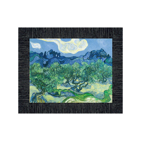 Olive Trees By Vincent Van Gogh Framed Wall Art Print for Home decor, 11x14, 2438
