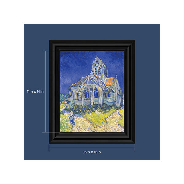 Church at Auvers by Vincent Van Gogh Framed Wall Art Print, Wall Decor for Your Office or Living Room Decor, 11x14, 2441