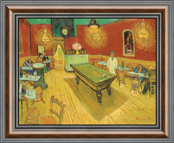 The Night Cafe in the Place Lamartine in Arles by Vincent Van Gogh, Framed Wall Art Print, Great Bar or Man Cave Decor, 11x14, 2447
