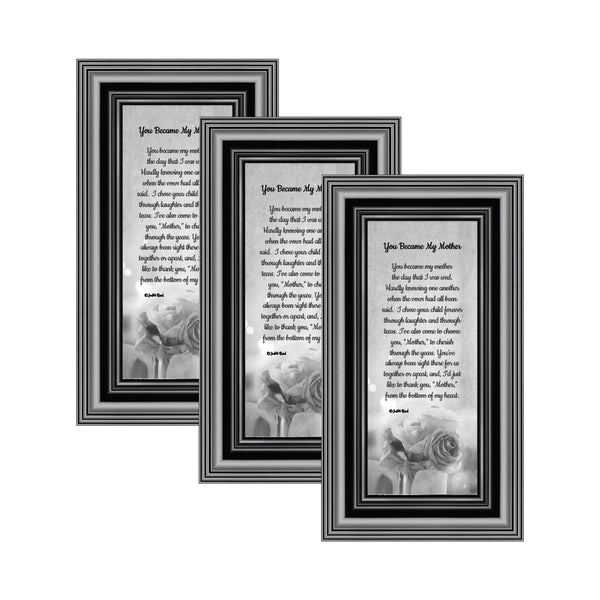 Picture Frame Set, 3 Piece Customizable Gallery Multi pack, 3-4x10, for Tabletop or Wall Display