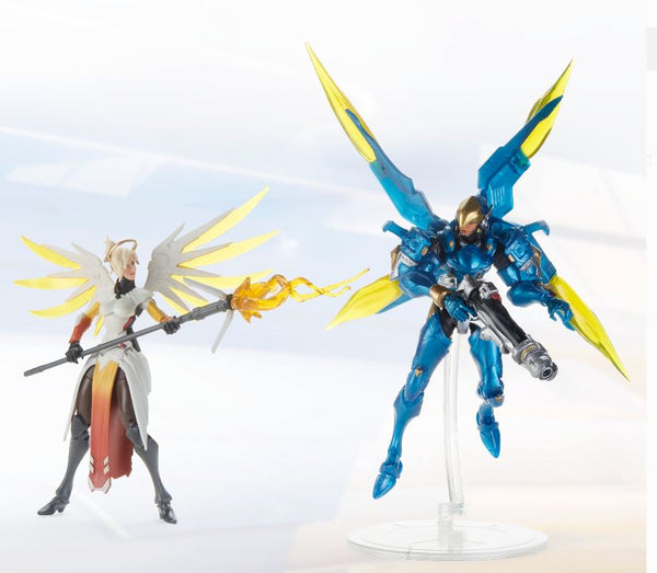 Hasbro Overwatch Ultimates Series Pharah and Mercy Dual Pack 6-Inch-Scale Collectible Action Figures with Accessories – Blizzard Video Game Characters