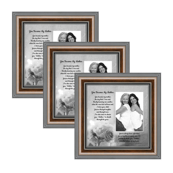 Picture Frame Set, 3 Piece Customizable Gallery Multi pack, 3-8x8, for Tabletop or Wall Display