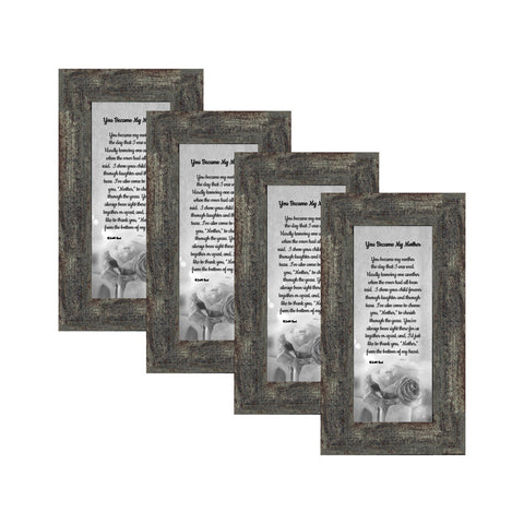 Picture Frame Set, 4 Piece Customizable Gallery Multi pack, 4-4x10, for Tabletop or Wall Display