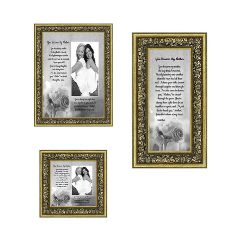 Picture Frame Set, 3 Piece Customizable Gallery Multi pack, 1-5x7, 1-4x10, 1-4x4, for Tabletop or Wall Display