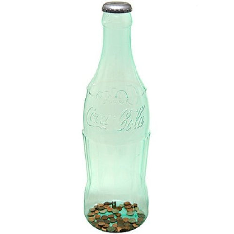 "23"" Coca Cola Large Bottle Bank for Coin Collection"
