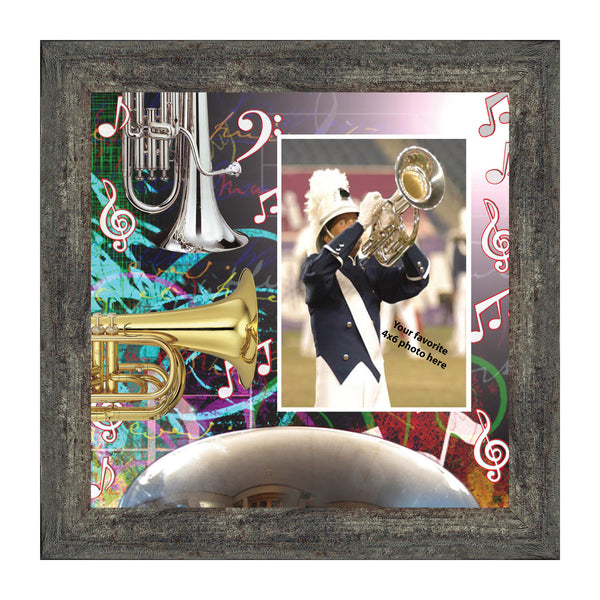 Baritone, Concert or Marching Band Personalized Picture Frame, 10x10 3502