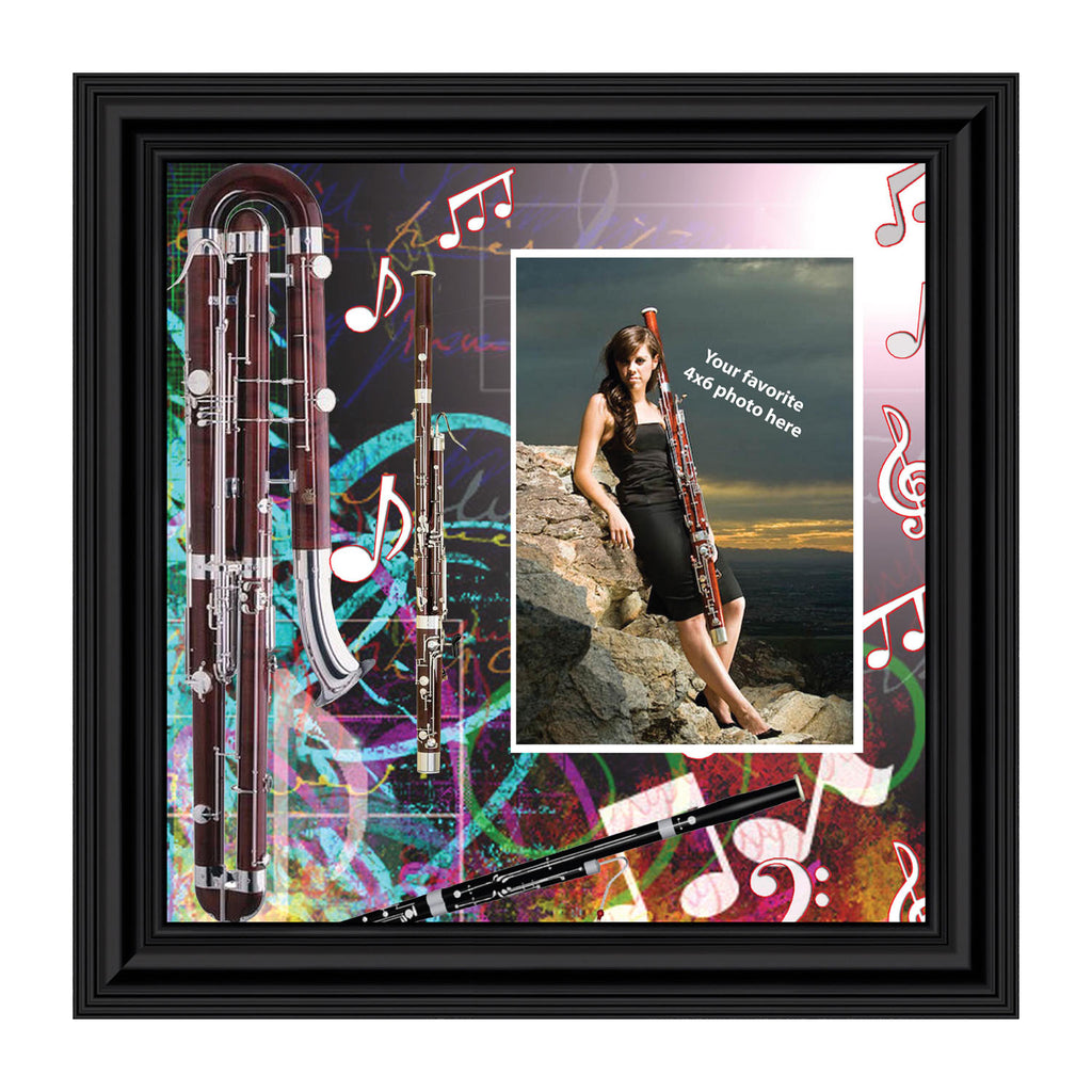 Bassoon Marching Band, Bassoon Gifts, Personalized Picture 10X10 3503