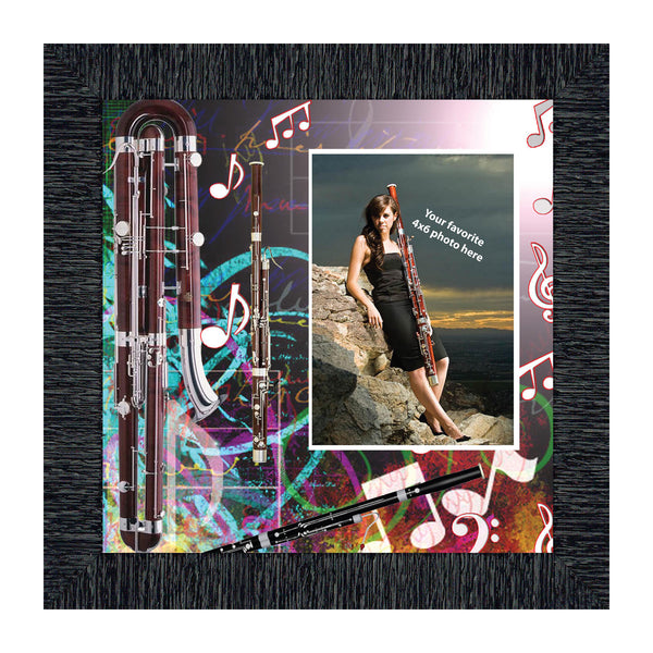 Bassoon for Marching or Concert Band, Personalized Picture Frame, 10X10 3503