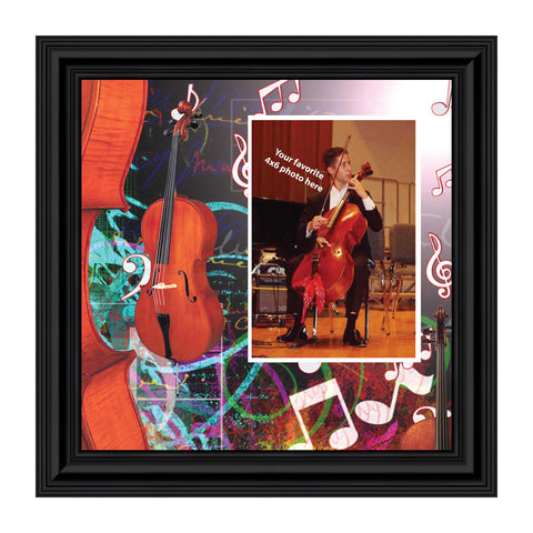 Cello, Concert Band Personalized Picture Frame, 10X10 3504