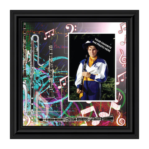 Clarinet, Marching or Concert Band Personalized Picture Frame, 10X10, 3505