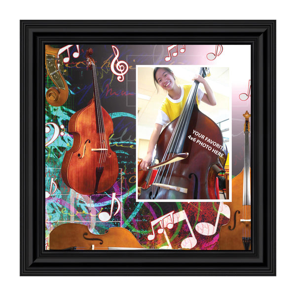 Double Bass, Upright Base Personalized Picture Frame 10X10, 3506