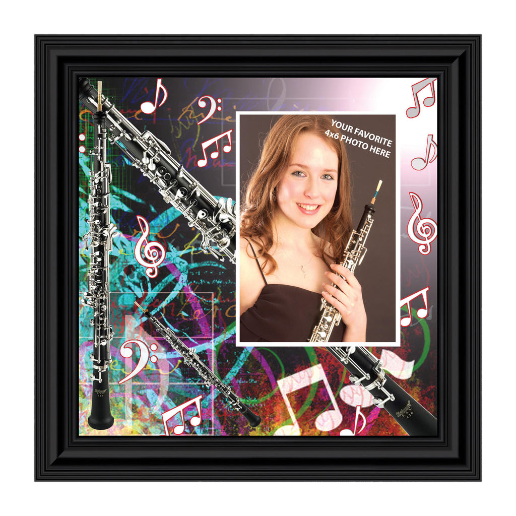 Oboe, Oboe Gifts for Marching Band Personalized Picture Frame, 10X10 3508