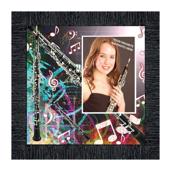 Oboe, Marching or Concert Band Personalized Picture Frame, 10X10 3508
