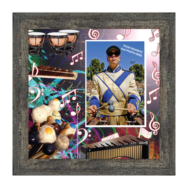 Mallets, Xylophone, Timpani Marching Band Personalized Picture Frame, 10X10 3509