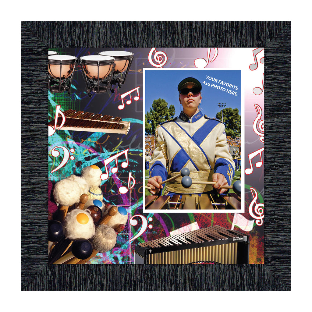 Mallets, Xylophone, Timpani Marching or Concert Band Personalized Picture Frame, 10X10 3509
