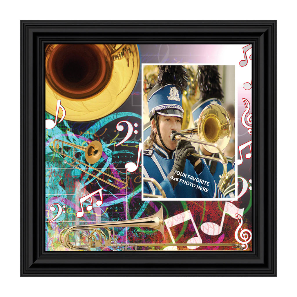 Trombone, Trombone Gifts for Marching Band, Personalized Picture Frame, 10X10, 3513