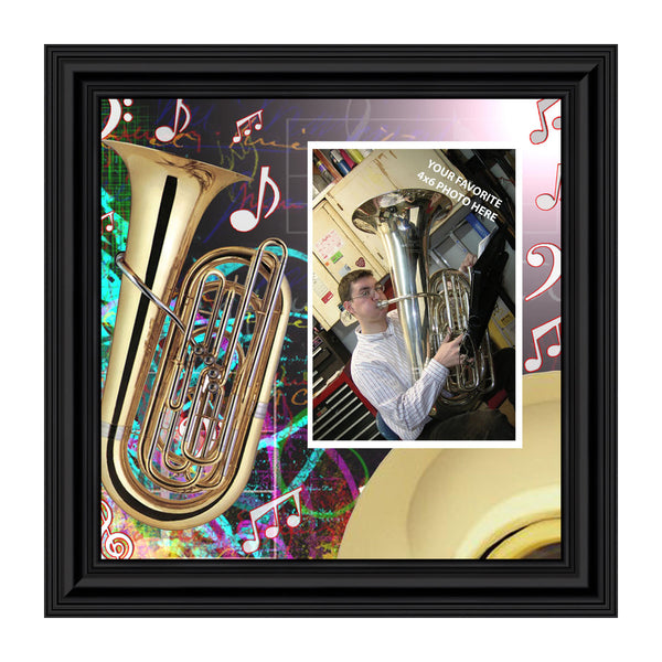 Tuba, Marching Band Gifts Personalized Picture Frame, 10X10 3516