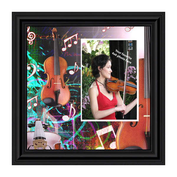 Violin, Concert Band Personalized Picture Frame, 10X10 3518