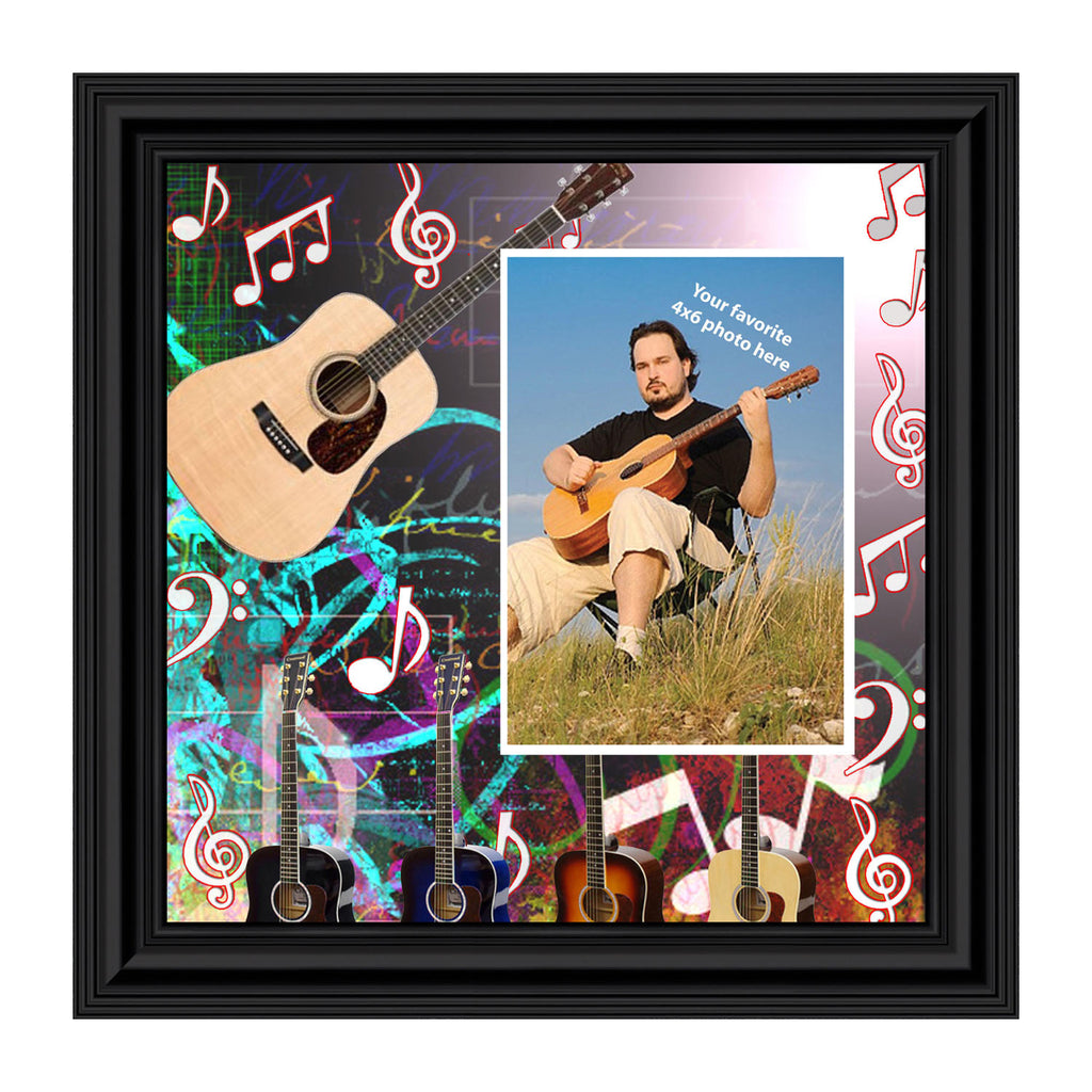 Acoustic Guitar, Concert Band Personalized Picture Frame, 10X10 3520