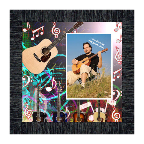 Acoustic Guitar, Personalized Guitar Gifts for Him or Her, 10X10 3520