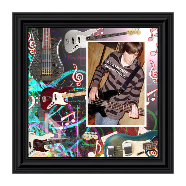 Bass Guitar Concert Band Personalized Picture Frame, 10X10 3521