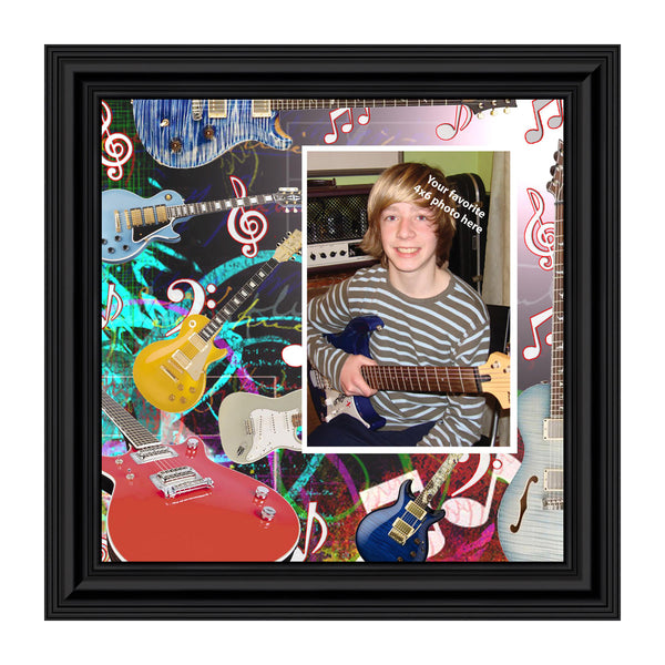 Electric Guitar Personalized Picture Frame for Guitar Lovers, 10X10 3522