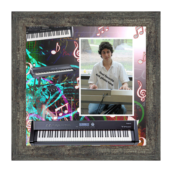 Keyboard, Concert Band Personalized Picture Frame, 10x10 3523