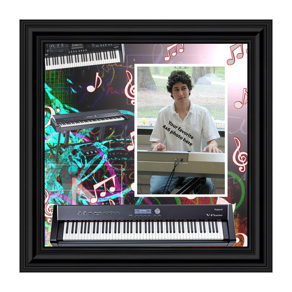 Keyboard, Personalized Picture 10x10 3523