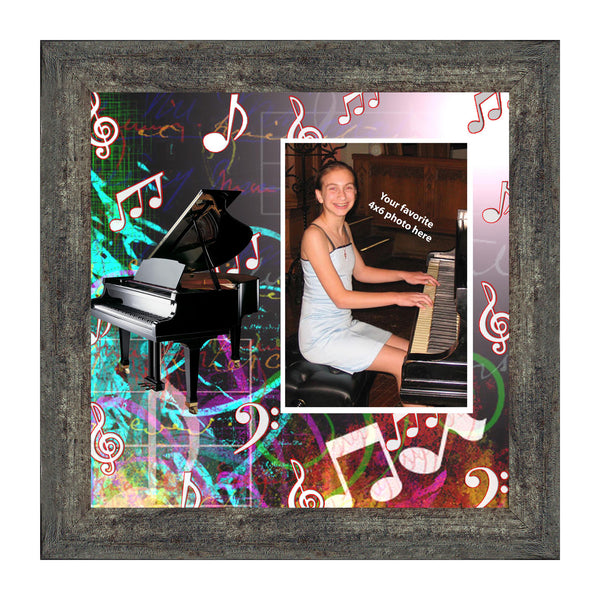 Piano, Concert Band Personalized Picture Frame, 10X10 3524