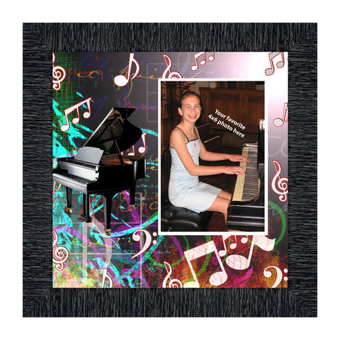 Piano, Personalized Picture Frame, 10X10 3524