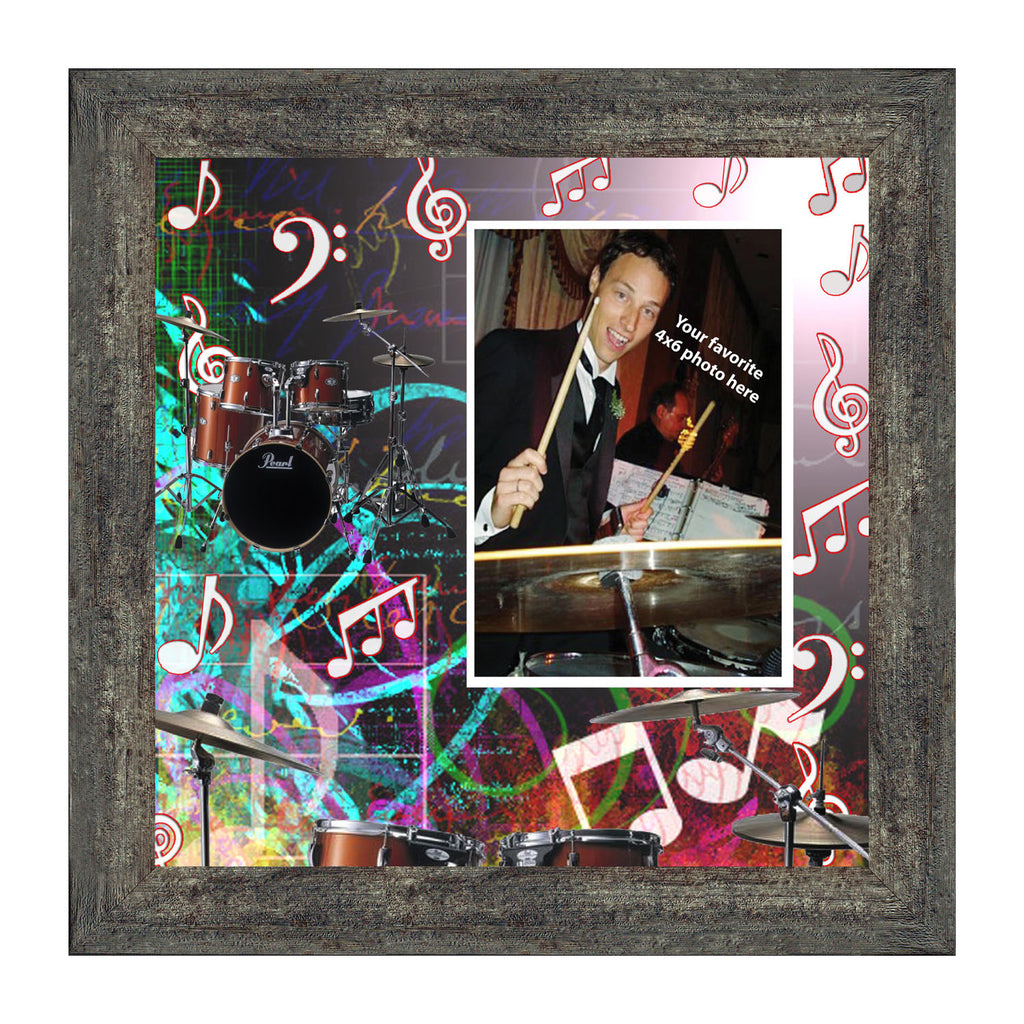 Drum Kit, Concert Band Personalized Picture Frame, 10x10 3525