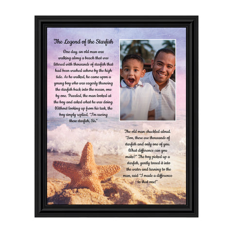 The Starfish Story Teacher Gift, The Legend of the Starfish Wall Decor, Thank You Gifts or Encouragement Gifts, Thinking of You Gifts, Add to Your Thank You Gift Basket, Framed Home Décor, 5005