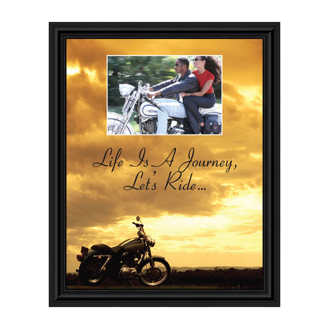 Harley Davidson Gifts for Men and Women, Classic Harley Picture Frame, Harley Davidson Wedding Gifts, Biker Motorcycle Accessories for Men, Unique Motorcycle Wall Decor, 5014