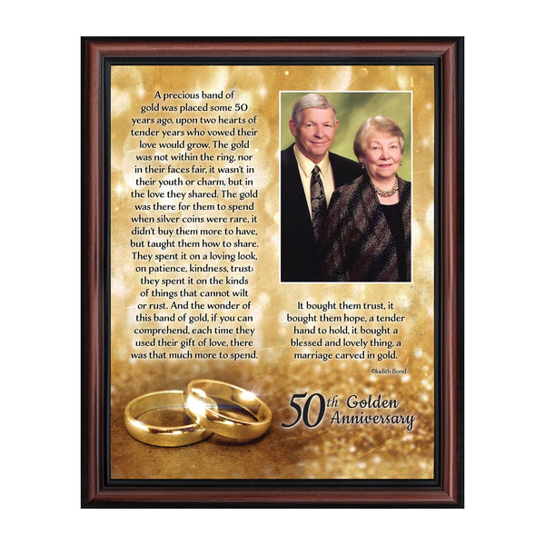 Wedding Anniversary Gifts for Parents, 50th Anniversary Decorations for Party, Golden Anniversary 50 Year Gifts, 50th Anniversary Gifts for Couples, Gift with your 50th Anniversary Card, 5020