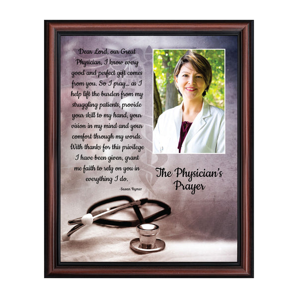 Doctor Gifts, Gifts for Medical School Graduation, Doctor Thank You Gift, Gifts for Doctors Office, Medical Doctor Gifts for Women or Doctor Gifts for Men, A Physician Prayer Framed Poem, 5035