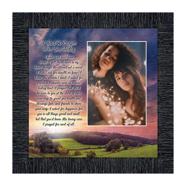 I Said a Prayer for You Today, Personalized Picture Frame 10x10 6308