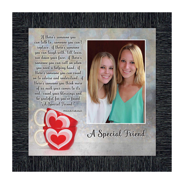 A Special Friend Picture Framed Poem About Friendship for Best Friend or Special Family Member 10x10 6309