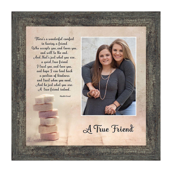 A True Friend, A Poem About Friendship, Picture Frame 10x10 6312