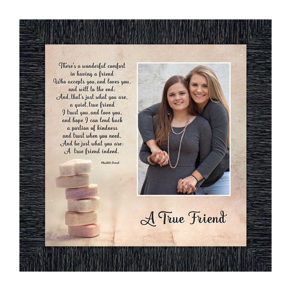 A True Friend, Poem About Friendship, Gift for Best Friend, Framed Poem, 10x10 6312